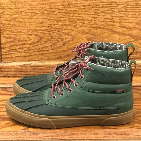 0b4534e1e66e1e Vans Shoes | Sk8 Hi Del Pato Mte Rosin Feather Gum Boots | Poshmark